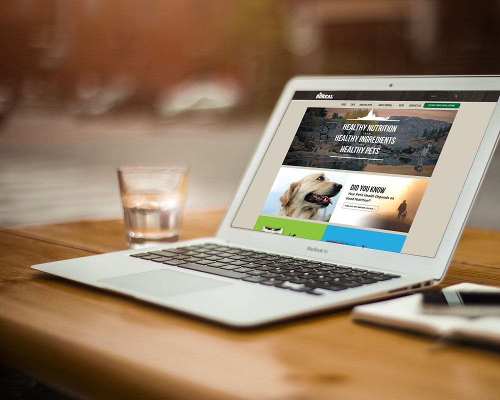 Boreal Pet Food Website Design